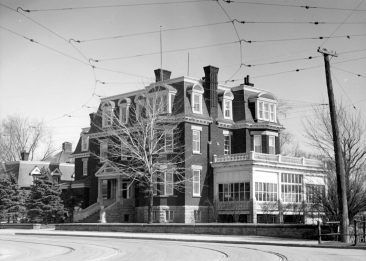The former Frederick Booth House on Charlotte St. (which became the Soviet embassy in the late 1940s). This is where Lois Booth grew up and where her wedding reception took place after she married Prince Erik od Denmark in 1924. The Russian embassy now stands on the site and the streetcar tracks are long gone. Andrews-Newton Photographers Fonds / City of Ottawa Archives / MG393-AN-NP-040708-001