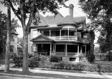 345 Laurier Ave. E. as it looked in the 1920s (when it was the residence of E. Bremner) and   in the 1940s when it became the headquarters of the Examination Unit, Canada's WW2 spy agency. One can see Laurier House to the left of the picture. The house was demolished in the 1960s and replaced by a high-rise apartment building. LAC MIKAN 3325767